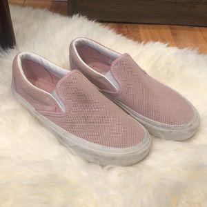 Vans Pink Slip Ons